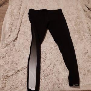 Black leggings with mesh detail